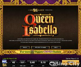 Queen Isabella Slot