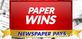 Paper Wins Newspaper Pays Slot
