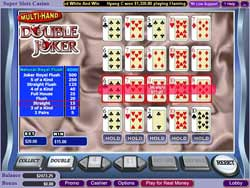 Super Slots Casino's Multi-Hand Double Joker