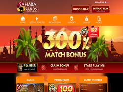 Play Sahara Sands Online Casino Now