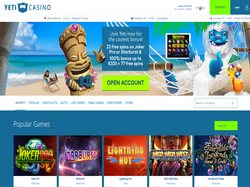 Play Yeti Casino Now