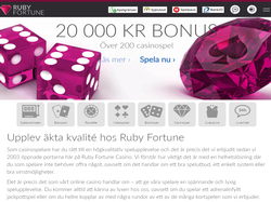 Play Ruby Fortune Casino Sweden Now
