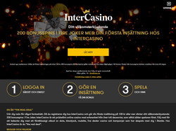 Play InterCasino Sweden Now