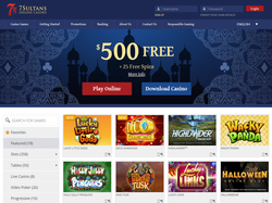 Play 7 Sultans Casino Now