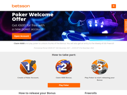 Play Betsson Poker Now
