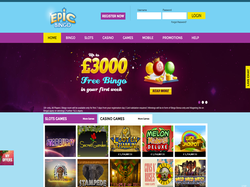 Play Epic Bingo Now