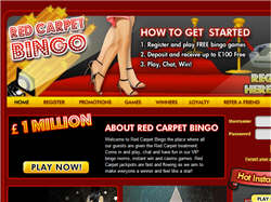 Play Red Carpet Bingo Now